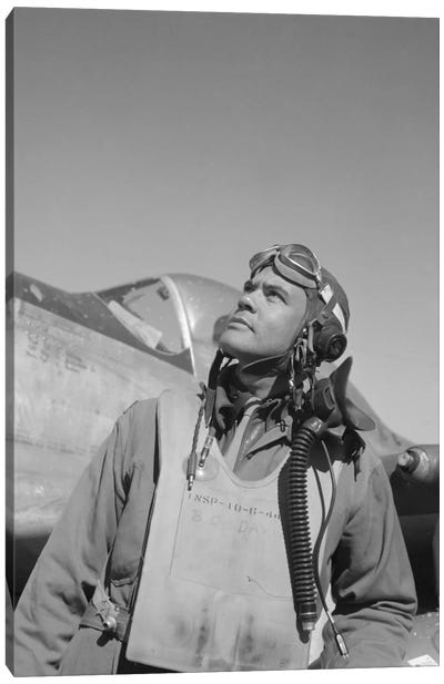 Benjamin Oliver Davis Jr., Commander Of The Tuskegee Airmen Canvas Art Print