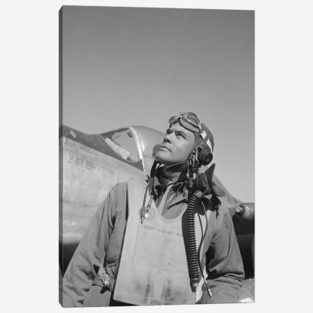 Benjamin Oliver Davis Jr., Commander Of The Tuskegee Airmen Canvas Print #TRK317} by John Parrot Canvas Artwork