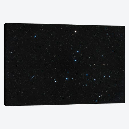 The Coma Berenices Star Cluster With Prominent Galaxies Ngc 4559 And Ngc 4565. Canvas Print #TRK3187} by Alan Dyer Canvas Print