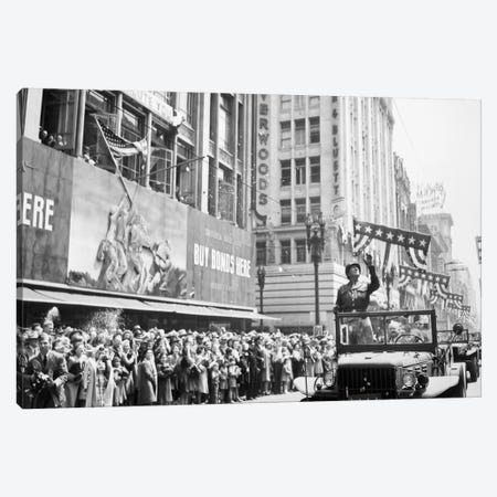 General George Patton During A Ticker Tape Parade Canvas Print #TRK320} by John Parrot Canvas Artwork