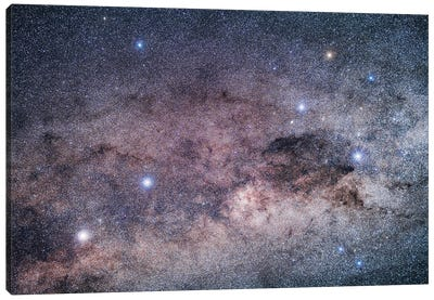The Pointer Stars And The Southern Cross. Canvas Art Print