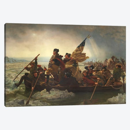 Painting Of George Washington Crossing The Delaware Canvas Print #TRK323} by John Parrot Canvas Art