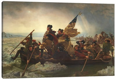 Painting Of George Washington Crossing The Delaware Canvas Art Print