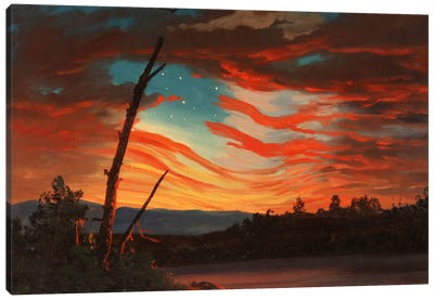 Patriotic And Symbolic Painting After The Attack On Fort Sumter Canvas Art Print