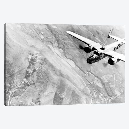 Photo Of A B-25 Bomber During WWII Canvas Print #TRK325} by John Parrot Canvas Print
