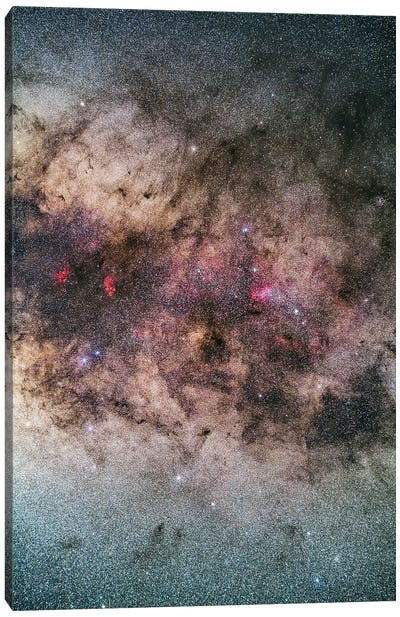 The Tail Of Scorpius In The Milky Way. Canvas Art Print