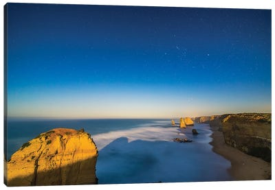 The Twelve Apostles Sea Stack Formations On The Great Ocean Road, Australia. Canvas Art Print