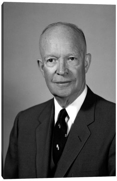 Photo Of President Dwight Eisenhower Canvas Art Print