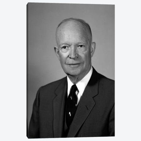 Photo Of President Dwight Eisenhower Canvas Print #TRK326} by John Parrot Canvas Art Print