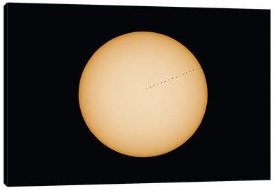 Transit Of Planet Mercury Composite Across The Sun In 2019. Canvas Art Print