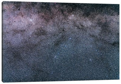 Trio Of Star Clusters In Norma And Triangulum Australe. Canvas Art Print