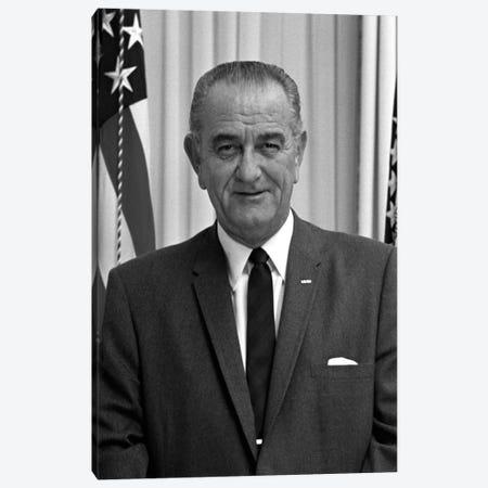 Photo Of President Lyndon B. Johnson I Canvas Print #TRK328} by John Parrot Canvas Art