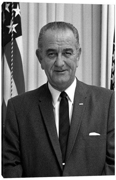 Photo Of President Lyndon B. Johnson I Canvas Art Print