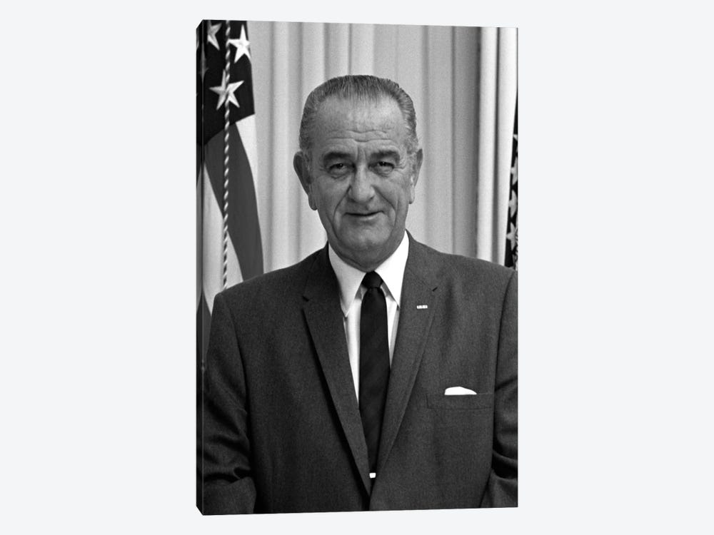 Photo Of President Lyndon B. Johnson I by John Parrot 1-piece Art Print