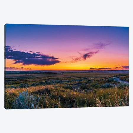 Volcanic Twilight At Grasslands National Park, Canada. Canvas Print #TRK3299} by Alan Dyer Canvas Artwork