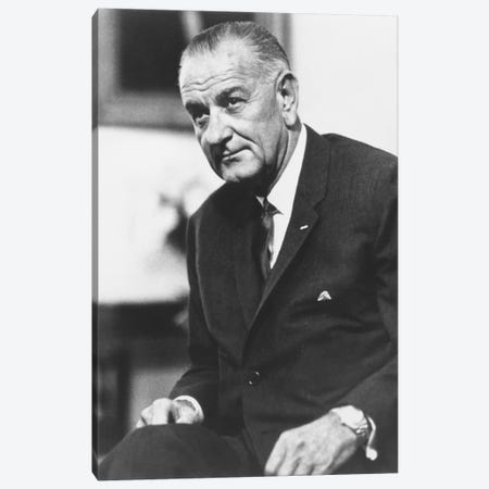 Photo Of President Lyndon B. Johnson II Canvas Print #TRK329} by John Parrot Canvas Artwork