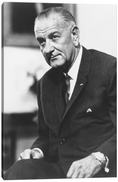 Photo Of President Lyndon B. Johnson II Canvas Art Print