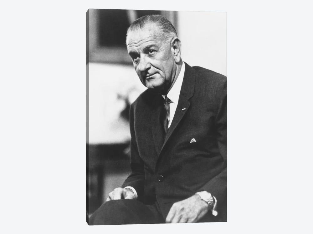 Photo Of President Lyndon B. Johnson II by John Parrot 1-piece Canvas Wall Art