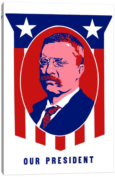 Poster Of President Theodore Roosevelt Canvas Art Print