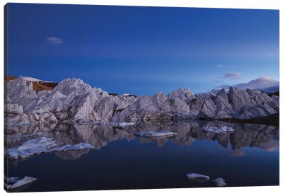 Anticrepuscular Rays Above A Glacier In The Himalayas Of Tibet. Canvas Art Print