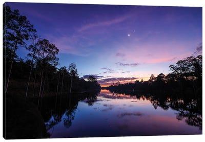 Break Of Dawn At Angkor Wat In Cambodia. Canvas Art Print