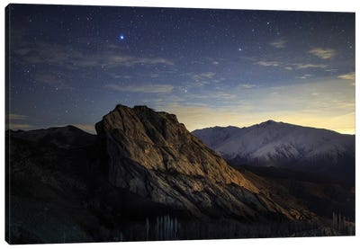 Stars Appear Above Alamut Castle In The Alborz Mountains Of Iran. Canvas Art Print