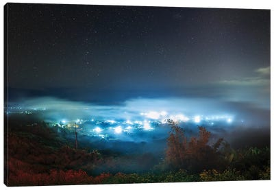 The Big Dipper And Zodiacal Light Shine Above The Sea Of Clouds In Pai, North Of Thailand. Canvas Art Print