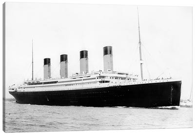Photo Of RMS Titanic Departing Southampton Canvas Art Print