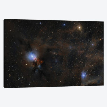 Dusty Nebulae And Clouds Of Stardust Drift Through This Deep Skyscape Of The Perseus Molecular Cloud. Canvas Print #TRK3370} by Lorand Fenyes Art Print