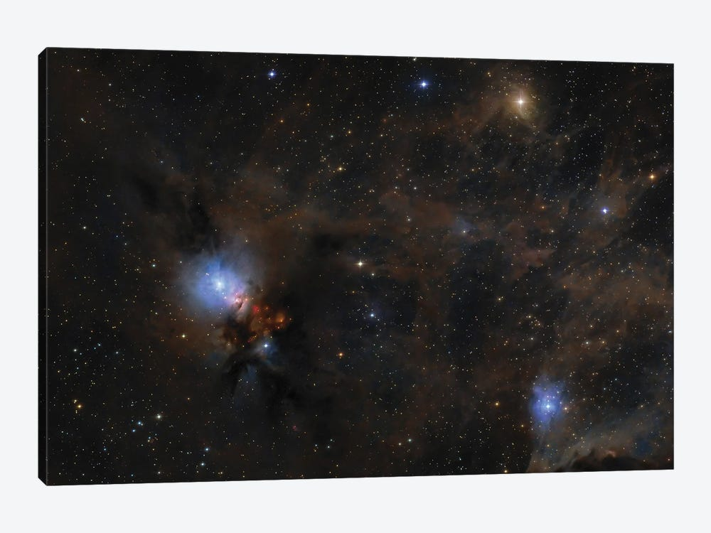 Dusty Nebulae And Clouds Of Stardust Drift Through This Deep Skyscape Of The Perseus Molecular Cloud. by Lorand Fenyes 1-piece Canvas Artwork