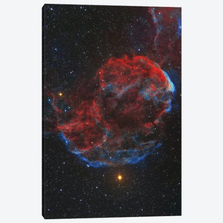 Ic 443 Supernova Remnant, Known As The Jellyfish Nebula. Canvas Print #TRK3371} by Lorand Fenyes Canvas Print