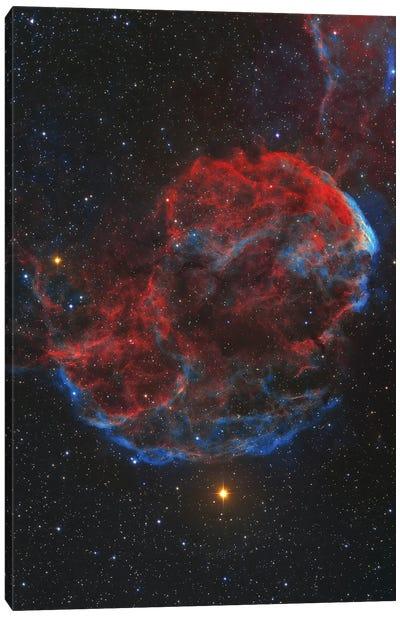 Ic 443 Supernova Remnant, Known As The Jellyfish Nebula. Canvas Art Print
