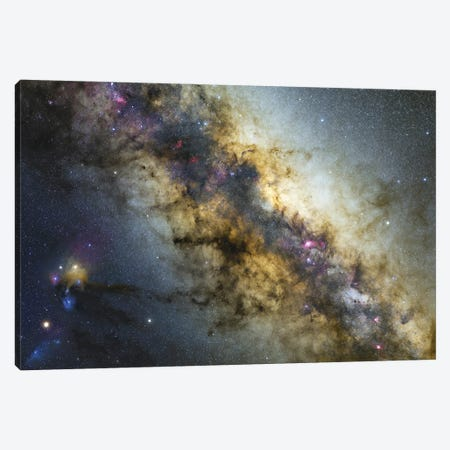 Milky Way With Visible Planets, Nebulae And Open Clusters. Canvas Print #TRK3373} by Lorand Fenyes Art Print
