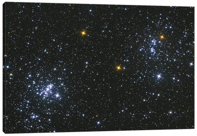 Perseus Double Cluster, Ngc 869 And Ngc 884. Canvas Art Print