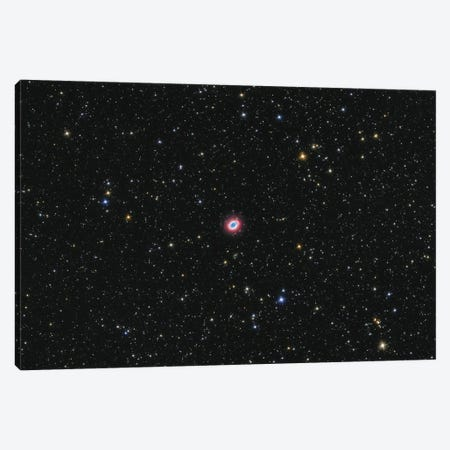The Ring Nebula Is A Planetary Nebula In The Constellation Of Lyra. Canvas Print #TRK3380} by Lorand Fenyes Canvas Artwork