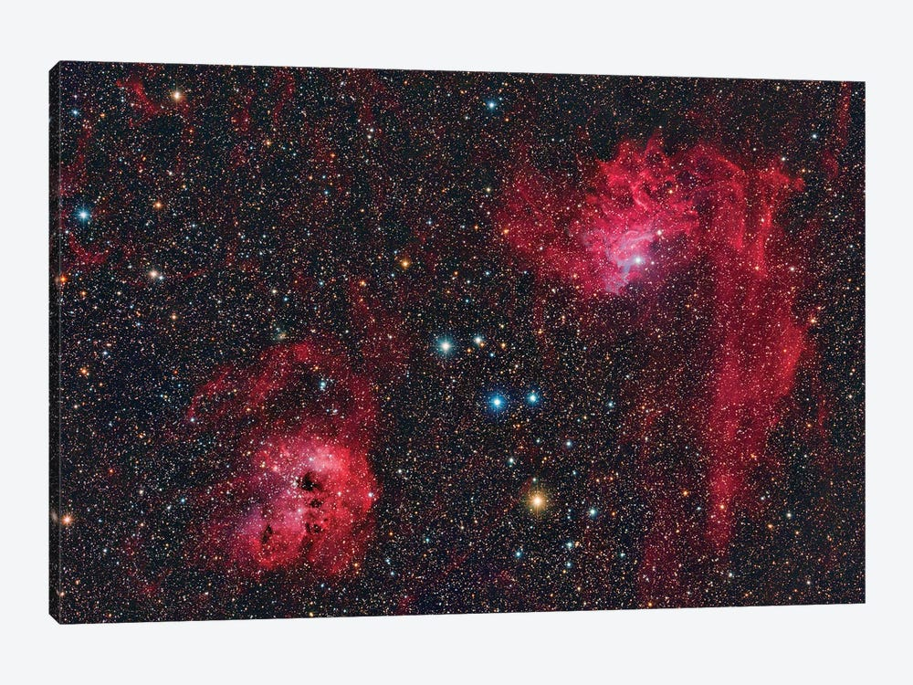 Ic 405, The Flaming Star Nebula In The Constellation Auriga. by Reinhold Wittich 1-piece Canvas Artwork