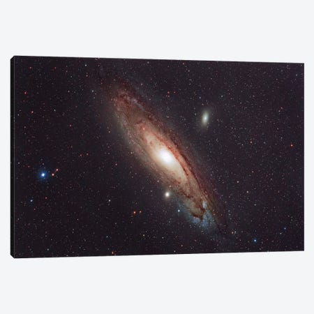 Messier 31, The Andromeda Galaxy. Canvas Print #TRK3402} by Reinhold Wittich Art Print