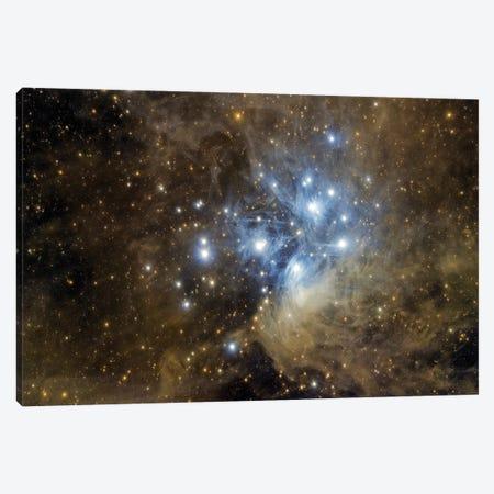 Messier 45, The Pleiades. Canvas Print #TRK3404} by Reinhold Wittich Canvas Artwork