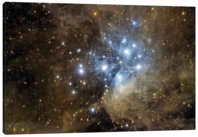 Messier 45, The Pleiades. Canvas Art Print