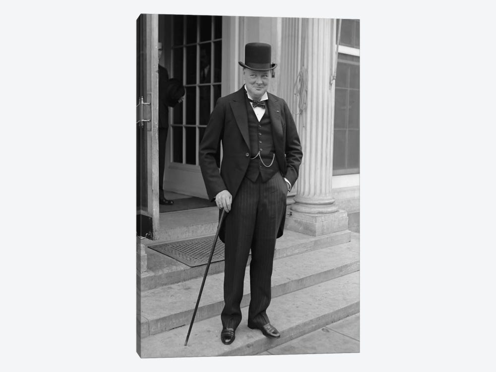 Photo Of Winston Churchill by John Parrot 1-piece Canvas Art Print