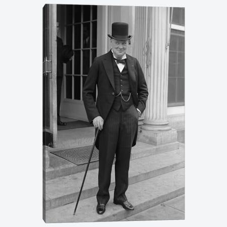 Photo Of Winston Churchill Canvas Print #TRK340} by John Parrot Canvas Artwork