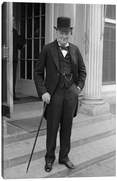 Photo Of Winston Churchill Canvas Art Print