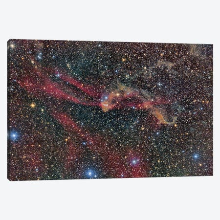 Sh2-126 Nebula In Lacerta. Canvas Print #TRK3411} by Reinhold Wittich Canvas Artwork