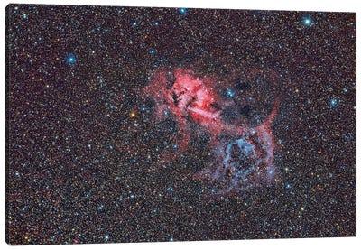 Sh2-132, The Lion Nebula. Canvas Art Print