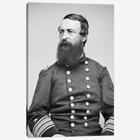 Portrait Of Admiral David Dixon Porter Canvas Print #TRK341} by John Parrot Canvas Artwork