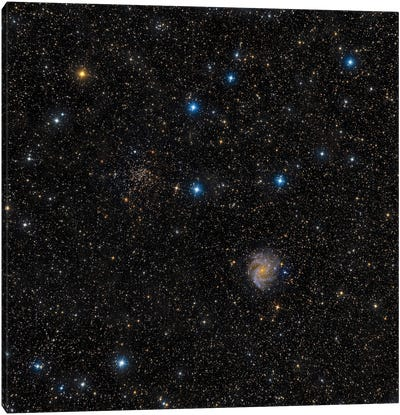 A Face-On Intermediate Spiral Galaxy. Canvas Art Print
