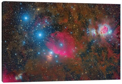 A Wide-Field Over Orion. Canvas Art Print