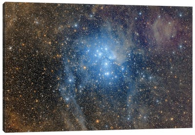 A Wide-Field View Over The Pleiades. Canvas Art Print