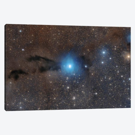 Cosmic Dust And Blue In The Constellation Lupus. Canvas Print #TRK3426} by Roberto Colombari Canvas Wall Art