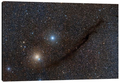 The Dark Doodad, A Dusty Filament In The Southern Milky Way. Canvas Art Print